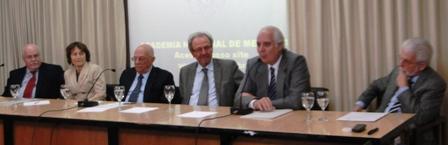Da esq. para dir.: Milton Meier, Eliete Bouskela, Marcos Moraes, Jacob Palis, José Ermírio de Moraes Neto e José Augusto Messias.