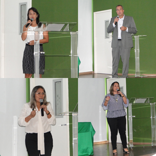 Os pesquisadores Jannifer Chiang e Sergio Luz (acima) e Lívia Martins e Raimunda Azevedo (abaixo)